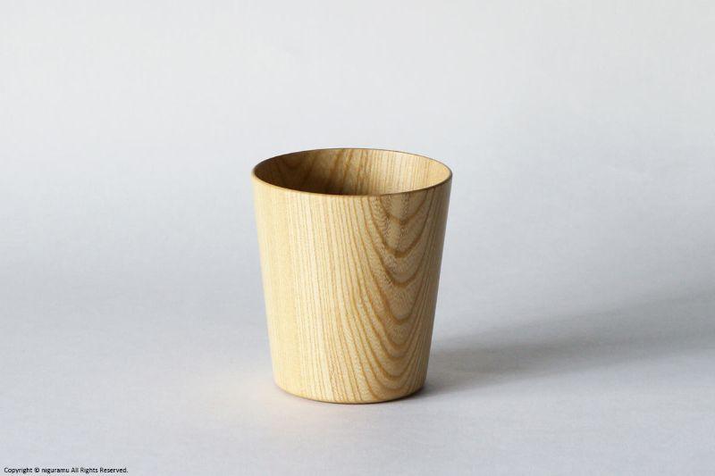 Kamiシリーズ シャーレと合わせてふた付き容器にもなる木製コップ Kami 2020A/W新作送料無料 グラス 大好評です L 大治将典 高橋工芸 ワイド