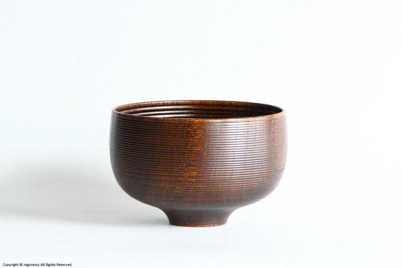 欅, 糸筋椀 大 / 拭き漆【喜八工房】