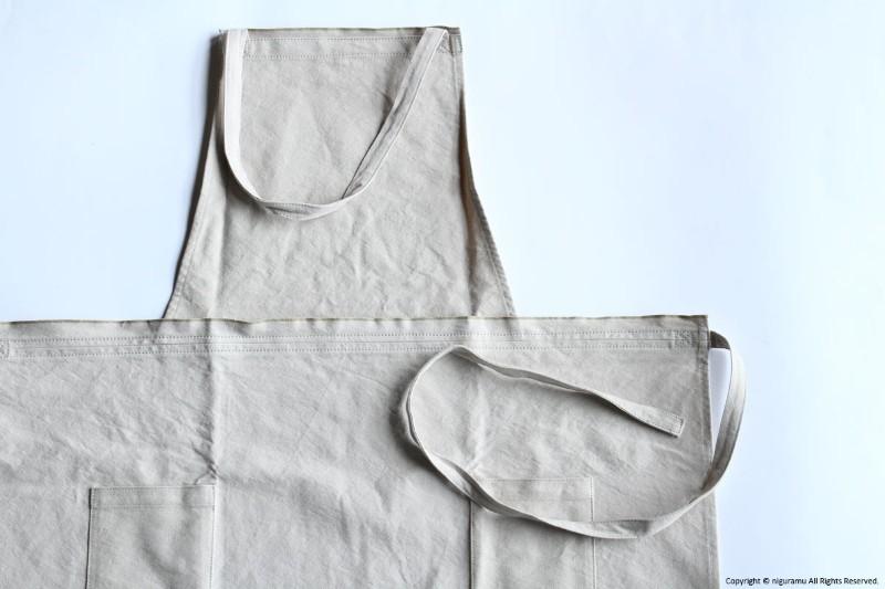 11号倉敷帆布製のAPRON long-L 全5色 薄手の帆布を使用し しっかりと丈夫で着け心地はしなやかです 休日 前方に2つのポケットがついて作業に便利 JOBU おすすめ特集 ジョーブ ロング-L エプロン グレーベージュ 灰白