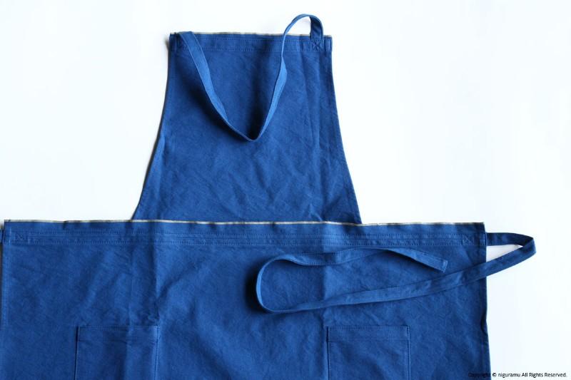 ●日本正規品● 11号倉敷帆布製のAPRON long-M 格安激安 全5色 薄手の帆布を使用し しっかりと丈夫で着け心地はしなやかです 前方に2つのポケットがついて作業に便利 JOBU エプロン 藍 ジョーブ ロング-M ブルー