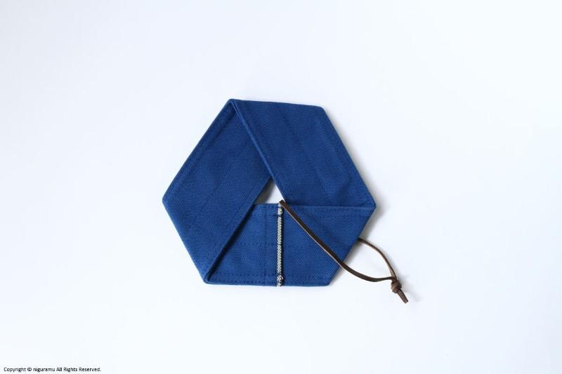 4号倉敷帆布製のPOT-MAT hexagon 全5色 結婚祝い 厚い帆布を重ねているため 熱にも強い丈夫な六角形の鍋敷きです JOBU ポットマット ヘキサゴン 藍 ブルー 本物 ジョーブ