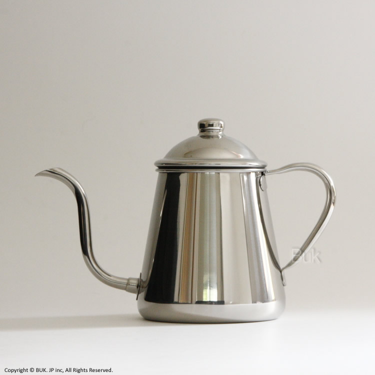 ゆっくり細くお湯を落とせるステンレス製のコーヒードリップポット セール特価 細口ステンレスドリップポット0.9 L 5~7杯用 IH 対応 ギフ_包装 タカヒロ