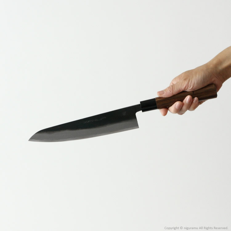 Black Pat double-edged knives, flick Tosa, blue paper No. 1 steel / type Gyuto knife 210 mm