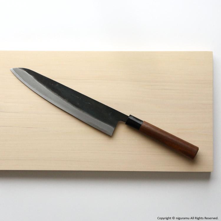 토사타칼날흑타양날칼 우도형 부엌칼 240 mm, 파랑지 1호 강철