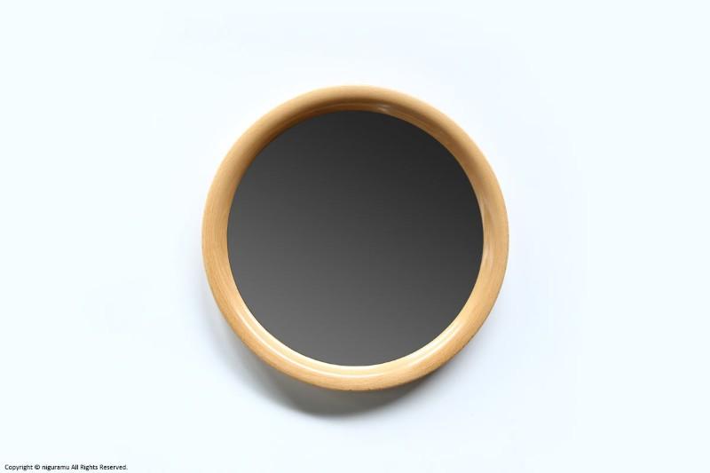 曲木鏡(ウォールミラー) 丸型, 小 / 木地色【柳宗理】