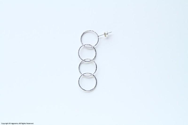 Ring earring, b4 / SV【erica miyake / エリカミヤケ】