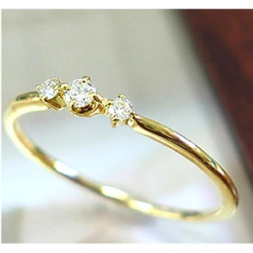 自分へのご褒美 プレゼント 記念日 K18 リング 天然ダイヤ 特別セール品 スリーストーン 誕生石 ダイヤモンド 18金 ホワイトゴールド 細身リング 指輪 送料無料 ピンクゴールド お見舞い ゴールド