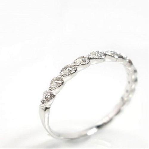 天然ダイヤ 0.15ctアンティーク調 18金 誕生石 ダイヤモンド 誕生石 K18 リング ゴールド ピンクゴールド ホワイトゴールド 指輪 送料無料