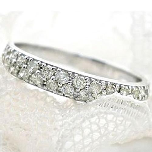 パヴェリング 指輪 パヴェ ダイヤモンド 誕生石 天然ダイヤ K18 リング ゴールド ピンクゴールド ホワイトゴールド 指輪 【送料無料】