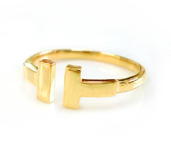 K10 k10 地金 リング Tモチーフ T字 10金 ゴールド PG WG スタイリッシュ 細身 指輪 人気 プレゼント 送料無料