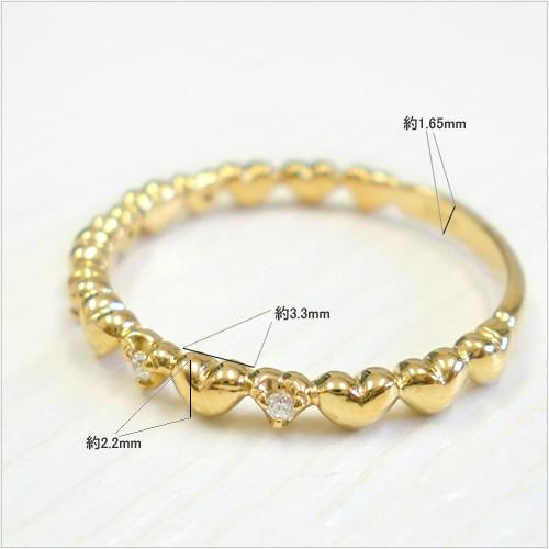 18金 指輪 リング ハート 天然ダイヤ 誕生石 K18 ダイヤモンド ゴールド PG WG1JTKcFl