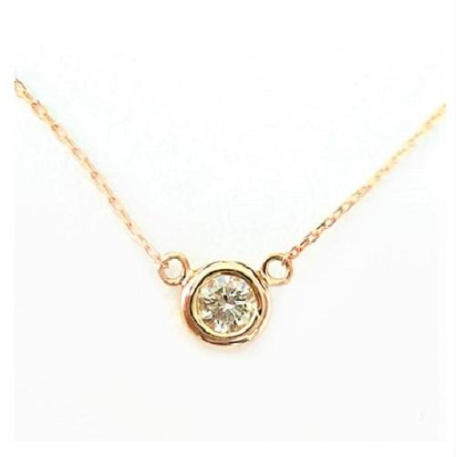 一粒 ダイヤモンド 0.10ct K18 ネックレス ダイヤネックレス 一粒ダイヤ 18金 ゴールド PG WG 送料無料 プレゼント ギフト 自分へのご褒美
