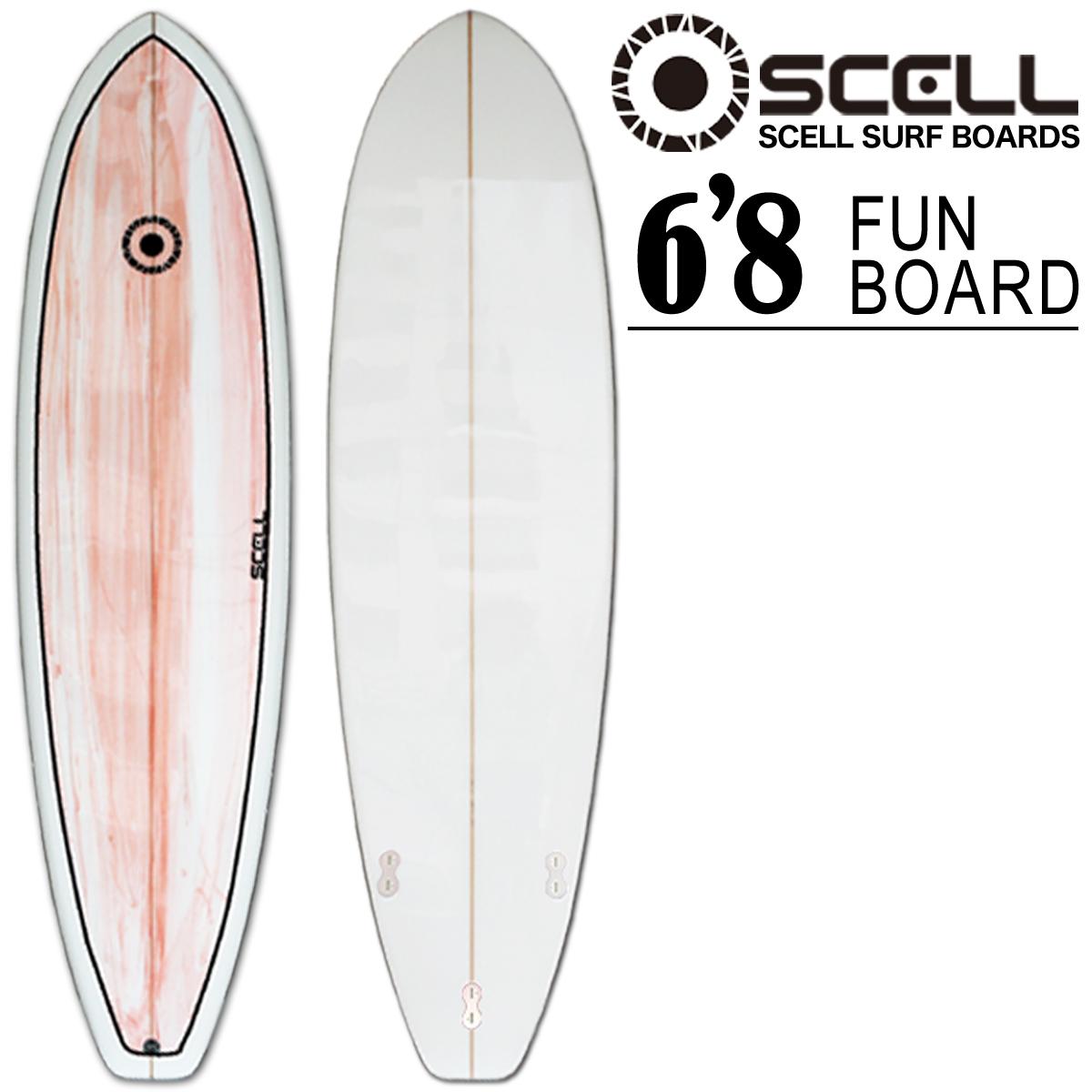 ファンボード 6'8 ピンク●サーフボード 【SCELL】 サーフィン 【希望小売価格の63%OFF】