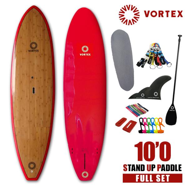 スタンドアップパドルボード 10'0 バンブー●フルセット【VORTEX】 SUP パドルサーフィン