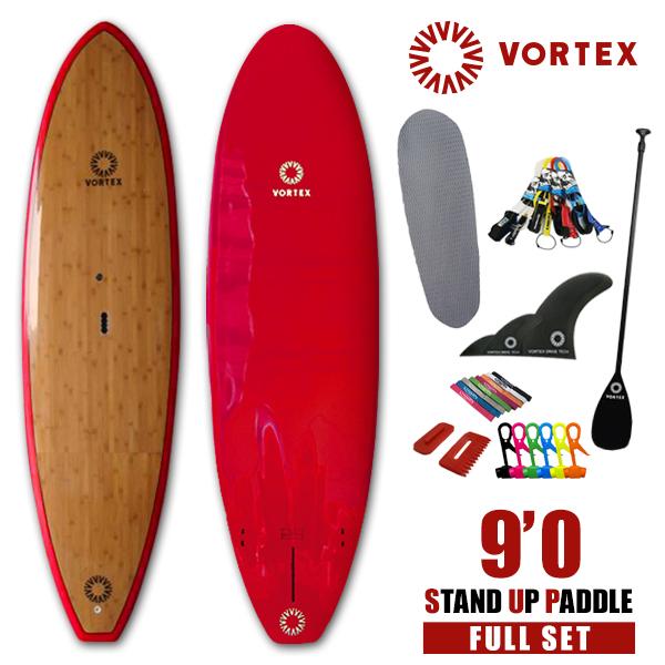 スタンドアップパドルボード 9'0 バンブー●フルセット【VORTEX】 SUP パドルサーフィン