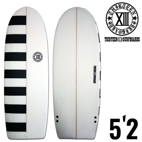 13SURF ミニシモンズ 5'2 BD●ツインフィン オルタナティブ サーフボード サーフィン