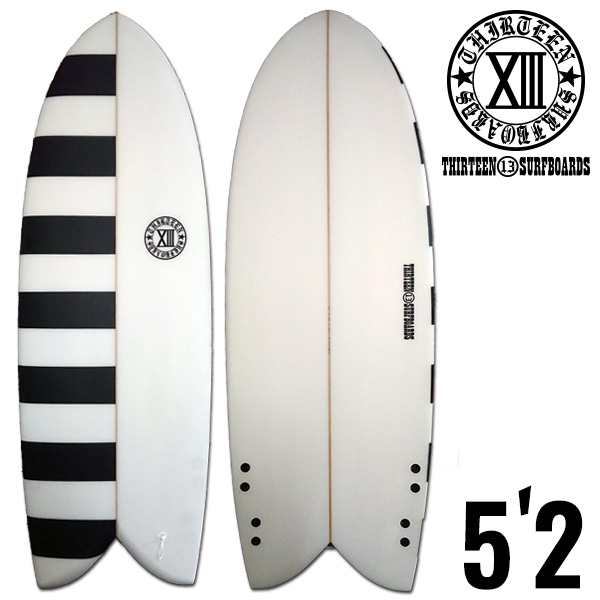 13SURF レトロフィッシュ 5'2 BD●ツインフィン オルタナティブ サーフボード サーフィン