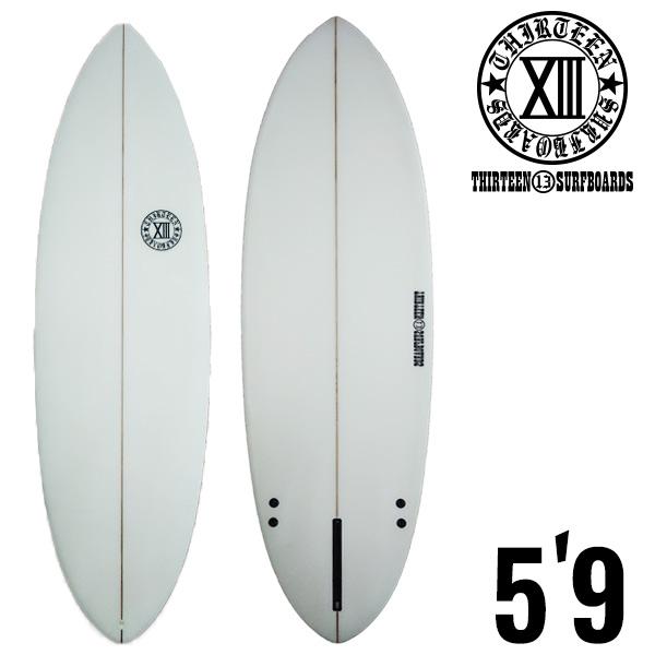 ショートボード 5'9 サーフボード 13SURF PNT クリア フィン付き サーフィン シングルフィン 激安 初心者 ショート 5/9 セット