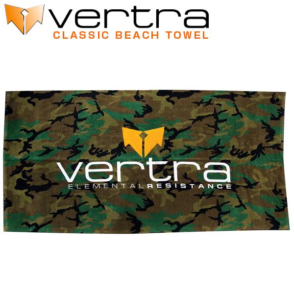 [エントリー&カード利用でポイント5倍 12/20 23:59まで]VERTRA バートラ タオル クラシック ビーチタオル CLASSIC BEACH TOWEL カモフラ柄 コットン100% バスタオル サーフィン 基本送料無料