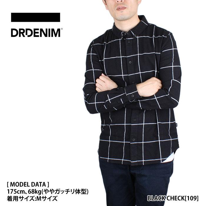 ドクターデニム DR.DENIM チェックシャツ IGGY REGULAR SHIRT【あす楽対応商品】