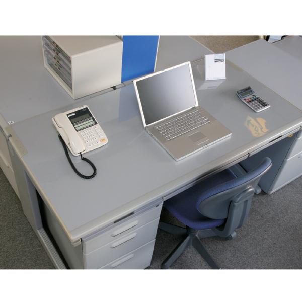 デスクマット E型 DMT-6045E デスクマット 透明 事務用品 オフィス用品 文具 アイリスオーヤマ 机 デスクマット クリアデスクマット デスクカーペット 透明シート 傷・汚れ防止 テーブル 安心