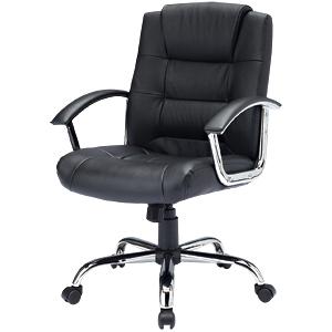 【オフィスチェア レザー】レザーチェアSNC-L10K【パソコンチェア チェア 椅子 レザー 革 おしゃれ】【TD】【代引不可】【サンワサプライ】