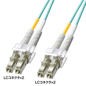 【サンワサプライ】OM3光ファイバケーブル LCコネクタ-LCコネクタ 2m HKB-OM3LCLC-02L 【TD】【代金引換不可】