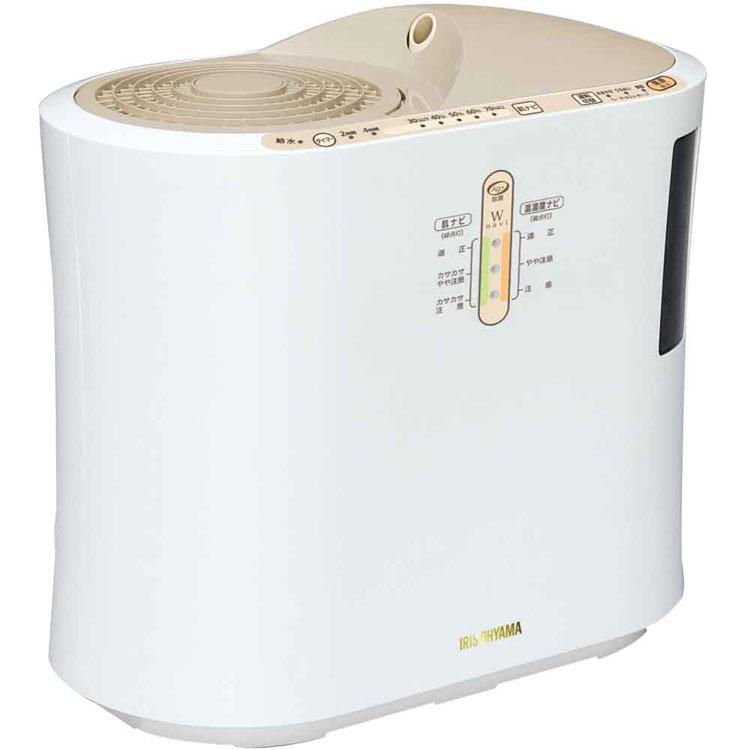 強力ハイブリッド加湿器 750ml SPK-750-U ベージュ アイリスオーヤマ[加湿器 加熱式 超音波式 リビング オフィス タイマー付 清潔]