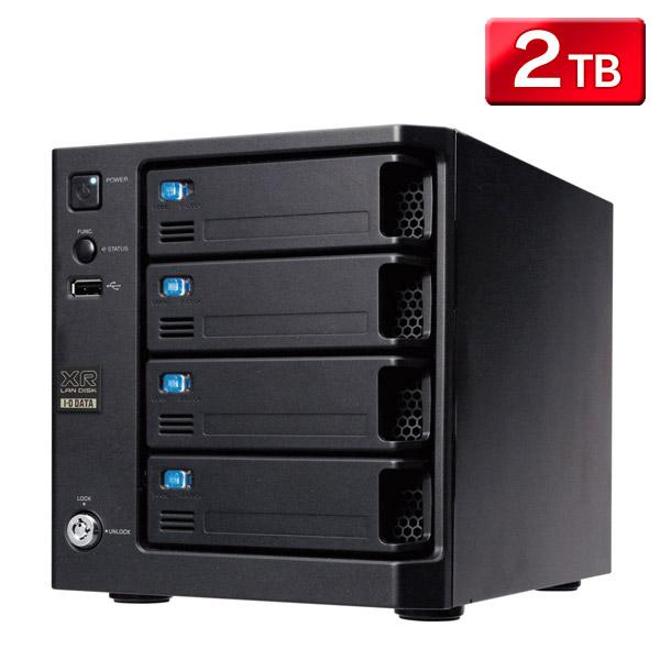 【送料無料】WD Red搭載 RAID6対応 ビジネスNAS 2TB HDL-XR2.0W 【TC】【IOD】