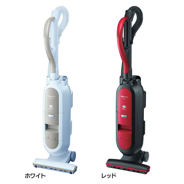 掃除機 PV-SU3N送料無料 掃除機 クリーナー スティック HITACHI 掃除機スティック スティッククリーナー 日立 ホワイト・レッド【D】