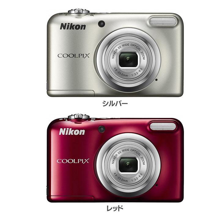 光学5倍 デジタルカメラ A10送料無料 コンパクトデジタルカメラ COOLPIX クールピクス Nikon ニコン シルバー・レッド【D】