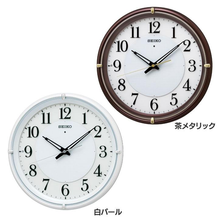 セイコー 電波掛時計 KX233送料無料 セイコークロック seikoclock ウォールクロック 壁掛け時計 掛け時計 電波時計 アナログ時計 電池 SEIKO セイコー 茶メタリック 白パール【D】