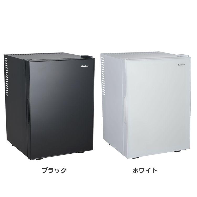 三ツ星貿易寝室用冷蔵庫ML-40G(B) ML-40G送料無料 寝室 小型 静音 三ツ星貿易 ブラック ホワイト【TD】 【代引不可】