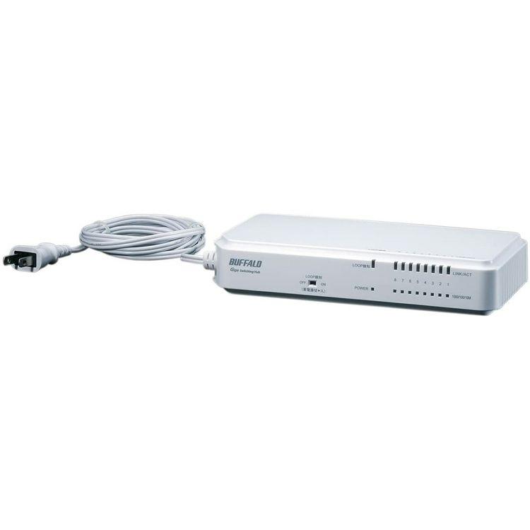 L2 Giga対応 ノンインテリジェントスイッチ 8ポート タップ型 BS-G2108UR-TP送料無料 PC機器 BUFFALO パソコン バッファロー 【D】
