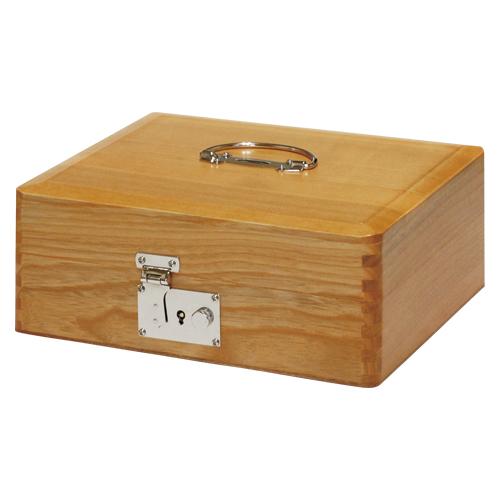 [コレクト]木製印箱(錠付)大型(科目印約90本収納)
