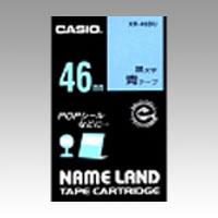 使用後は回収 分解し 再資源化 カシオ ネームランドテープ青ラベル 黒文字 人気ブランド 超人気 XR-46BU