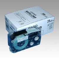 [カシオ]ネームランドテープ5個パック透明ラベル 黒文字【XR-18X-5P-E】