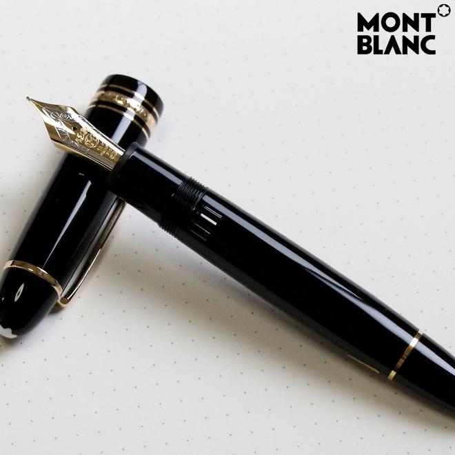 MONTBLANC モンブラン 万年筆 F<細字> マイスターシュテュック ブラック 専用インク付属 149bkF-ysd
