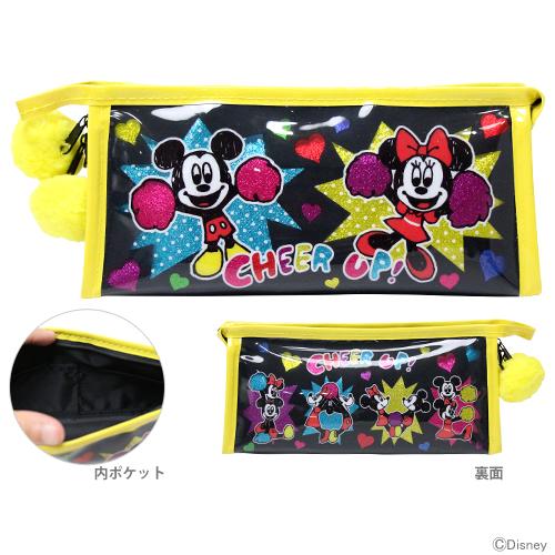 ミッキー 最安値に挑戦 ミニーのキュートなペンケース 〔大特価〕ミッキーマウス ミニーマウス ペンケース マチ 筆箱 MM 筆入れ セールSALE%OFF 4901770342917 Disneyzone 柄 チア