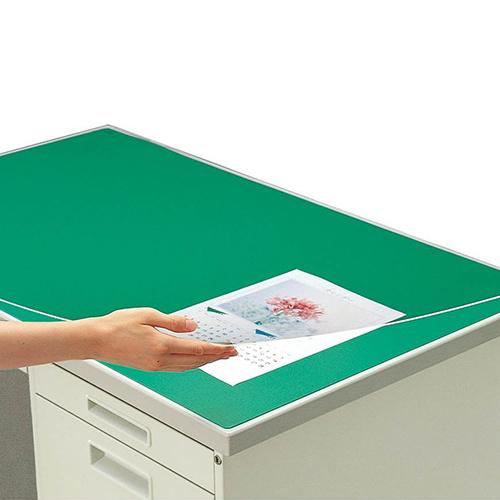 コクヨ デスクマット硬質W アクリル製 グリーン 透明 下敷き付 1600×700デスク用 マ-167 ★★★ 【メーカー取り寄せ】