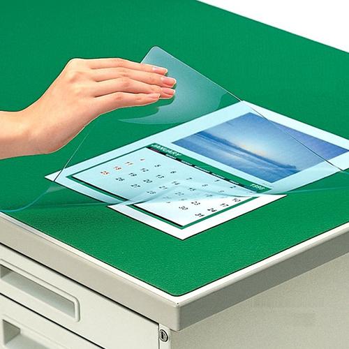 コクヨ デスクマット軟質W(非転写) グリーン 透明 下敷き付 1400×800デスク用 マ-448NG ★★★ 【メーカー取り寄せ】