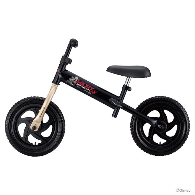 シンプルで使いやすいペダルレスバイク disneyディバイク ラッピング不可 高級品 数量限定 同梱不可 ディズニー アイデス ミッキーマウス 00272 キッズライダー ファーストサイクル 自転車 ブラック disneyzone