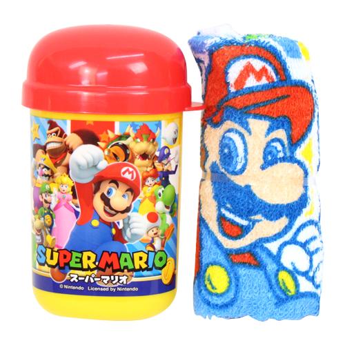 マリオのかっこいいランチグッズ 予約販売 スーパーマリオ おしぼりセット 価格 oa4 スーパーマリオ18