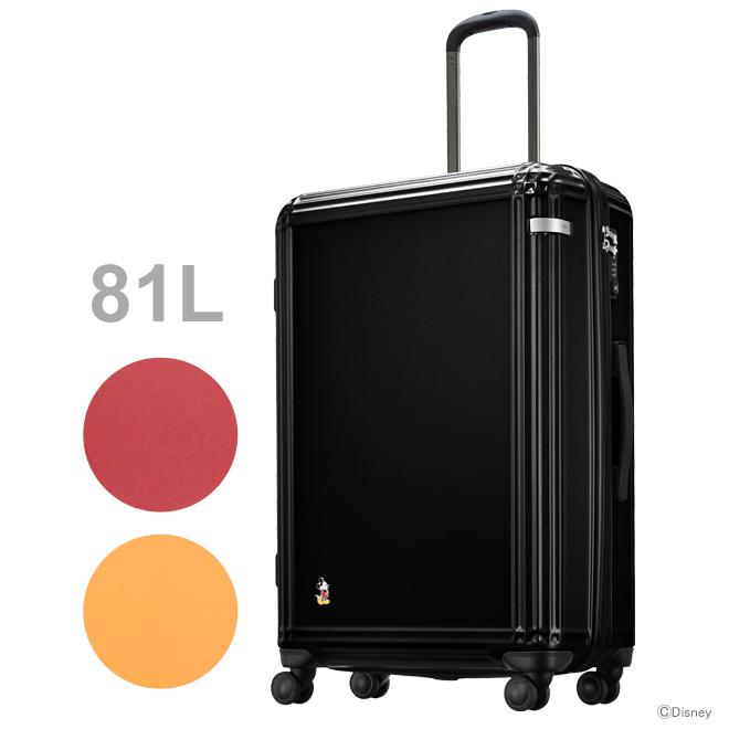 ACE ミッキーマウス スーツケース<キャリーケース> ラティスZ スタンディングミッキー 81L 3カラー 06113-ace 【disneyzone】