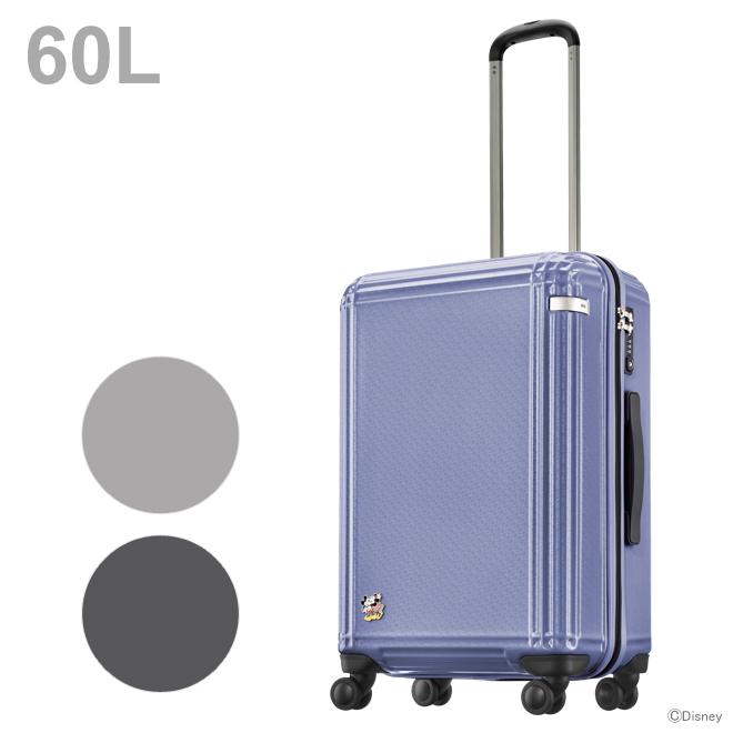 [大特価30%OFF]ACE ミッキー&ミニー スーツケース<キャリーケース> 60L 3カラー 6252-ace 【disneyzone】