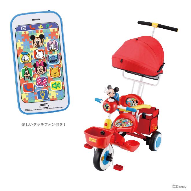 ミッキーマウス アイデス<ides> タッチフォンカーゴ レッド 01191 【disneyzone】