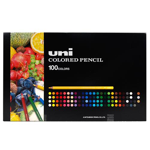 〔新製品〕uniユニカラー100色UC100C  三菱鉛筆 色鉛筆 ユニカラー100色UC100C