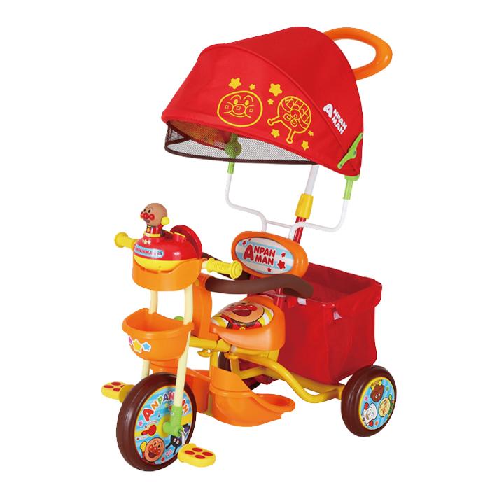 M&M<mimi> それいけ!アンパンマン デラックスII ブザー付おでかけ三輪車 オレンジ 0215