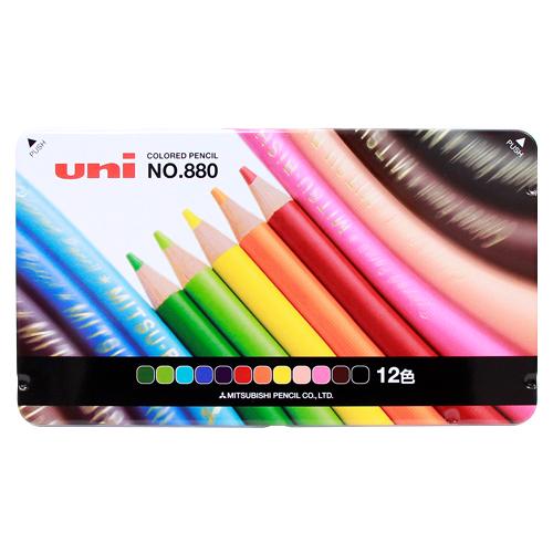 人気 スタンダードな12色色鉛筆 最大1000円クーポン配布中 名入れ不可 三菱鉛筆 色鉛筆 12色 1 デポー 972489 12CP K880 2 M便