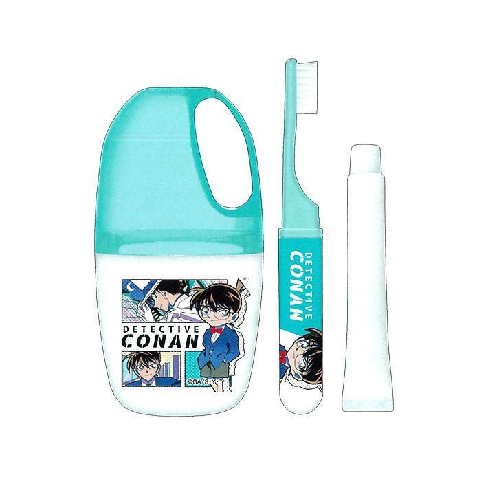 歯磨き 歯ブラシ かっこいい お得 女の子 絶品 名探偵コナン 53020 はみがきセット 80's柄
